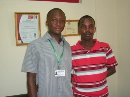 Les deux inventeurs du Faso SoapPh. Kpénahi Traoré